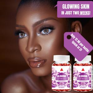Biotin Gummies Hair Skin Nails 60 Vegetarian Biotin 5000mcg - Hair Vitamins x2
