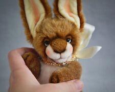 Marta.ArtsToy ooak Teddy bunny Bucks handmade artist toy