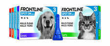 More details for frontline spot on for dog cat flea tick & lice treatment small medium large xl