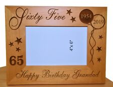 PERSONALISED 65th BIRTHDAY GIFT PHOTO FRAME 1955 MUM DAD GRANDAD UNCLE BROTHER
