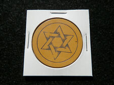 New listing Antique Poker Chip Yellow 6 Point Star Rare Gambling Vintage Masonic Clay Game