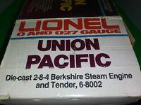 Lionel 6-8002 Union Pacific Berkshire 2-8-4 Steam Locomotive/Tender Box '80-'81