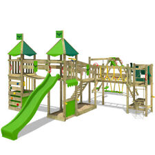 FATMOOSE LuckyLord Large XXL PlayGround Wood ClimbingFrame with SurfSwing Slide
