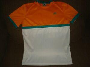 Adidas Climalite Tennis Shirt Orange/White BOY'S Size: Large