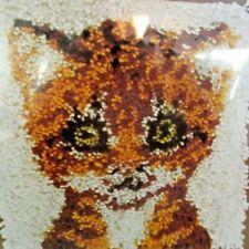 Vintage National Yarn Crafts Cat Latch Hook Kit P341 Wall Hanging Rug Sealed