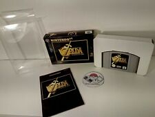 Zelda Ocarina Of Time Nintendo 64 N64 With Protective Case