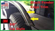 "5/8''  ""Lip Style"" WHEEL WELL Fender Edge TRIM (USA Made!) 3M! 20' BLACK KIT"