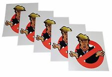 Set of 5 Anti-Trump Indoor/Outdoor Bumper Stickers. Funny Political Hillary 2016