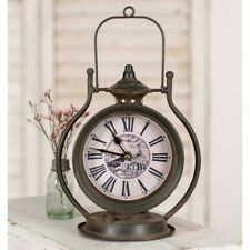 Dark Distressed Metal Retro Clock