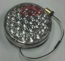 "PETERBILT 24 RED CLEAR LED 4"" ROUND SEALED BACK OF SLEEPER WORK LIGHT  GGA 76153"