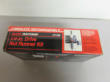 """Craftsman Cordless/Rechargeable 1/4"""" Drive Nut Runner Kit"""