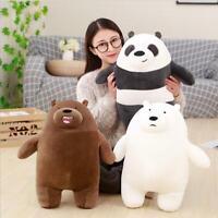 "12""/20"" Bear Plush Toy Cartoon We Bare Bears Stuffed Soft Toy Doll Gift Pillow"