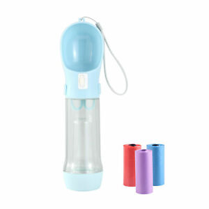 Dog Water Bottle Multifunctional Portable Dog Travel Drinker with Food Container