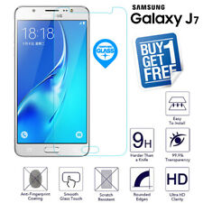 2 x For Samsung Galaxy J7 2015 Tempered Glass Screen Protector Film Clear J700F
