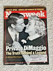 JOE DiMAGGIO NEWSWEEK MAGAZINE March 22, 1999 • NEAR MINT