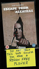 ESCAPE FROM ALCATRAZ (DVD) Clint Eastwood - R2- REGION 2 Import NEW / SEALED