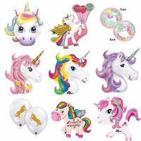 Unicorn Balloons Foil Latex Birthday Party Decoration Supplies Magical Rainbow