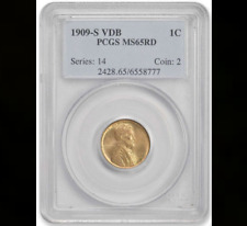 1909-S VDB PCGS MS65 RED (4 in stock) ♛Boss's Picks™♛ RD Lincoln Cent Wheat 1C