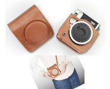 Leather Camera Case Bag For Fuji Fujifilm Instax mini90 Brown