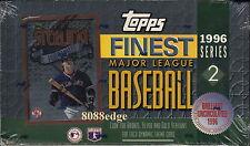 1996 TOPPS FINEST SERIES 2 MLB BASEBALL FACTORY SEALED HOBBY BOX: GOLD REFRACTOR