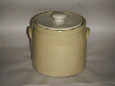 """VINTAGE MC COY 8"""" YELLOW SPECKLED COOKIE JAR POT W WHITE SPECKLED LID 1420 HEAVY"""