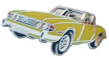 Triumph Stag car cut out lapel pin - Yellow body