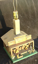 Vintage Hand made Western Store Diorama Table Lamp Boots Saddles PotBelly Great