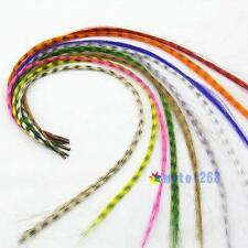 10pcs Grizzly synthetic Feather hair extensions 16inch long+10 beads for free MO