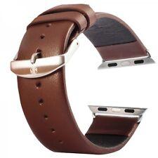 Echtleder Leder Armband Braun für Apple Watch Lederarmband 42mm iWatch Zubehör