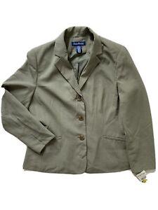 NWT Evan Picone Women's Three Button Blazer, 12P, color Olive