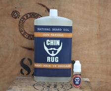 Chin Rug Premium  Moustache & Beard Oil 300ml UK MADE Movember Supporter