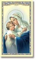 Religious Catholic Gift Madonna w Child Memorare of St Bernard Prayer Holy Card