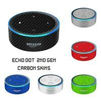 Amazon ECHO DOT 2 Generation Alexa CARBON Fiber 3D Skin Wrap Cover Decal 2nd Gen