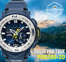 Casio Analog-digital Sport Mens Pro Trek Blue Watch Prg-280-2d