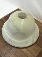 Vtg Art Deco Glass Torchiere Table Lamp Shade Pendant Ivory White 8.75 1 5/8 1/2