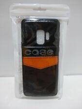 New Case - Samsung Galaxy S9 Wallet Case - Orange & Black