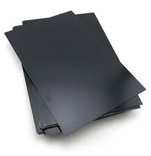 1 pcs ABS Styrene Plastic Flat Sheet Plate 0.5mm x 100mm x 100mm, Black