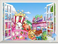 Donuts Lollies Shopkins 3D Window Wall decor Kids Nursery Girl Party Deocr Gift