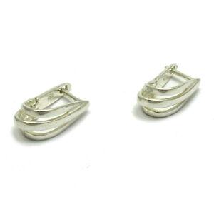 Stilvoller Sterling Silber Ohrringe massiv punziert 925 handgefertigt nickelfrei