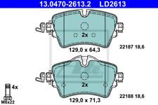 Ceramic Bremsbelagsatz, Scheibenbremse Vorderachse ATE 13.0470-2613.2