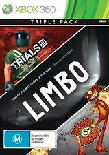 Triple Pack: Trials HD + Limbo + Splosion Man *NEW & SEALED* Xbox 360