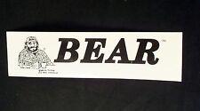 BEAR MAGAZINE LOGO CAR BUMPER STICKER (GAY INTEREST)