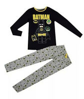 New Boys Pyjamas PJ's Batman Print Ex M&S Age 4-14 Yrs  RRP £18