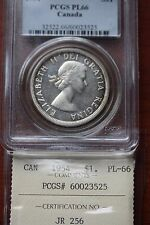 **1954** PCGS Graded Canadian Silver Dollar **PL-66**ICCS Cross Graded