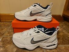 Nike Air Monarch IV D-Width Men's White/Navy/Silver 7-13, 14, 15 US NIB