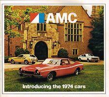 Big 1974 AMC Brochure w/ AMX JAVELIN,GREMLIN,MATADOR,HORNET,AMBASSADOR,401, GO