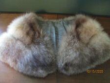 Vintage Silver Fox Fur Shrug/Wrap