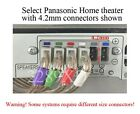6 speaker cables/wires 77ft 4.2mm plug made for select Panasonic home theater
