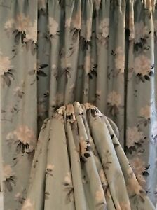 Sanderson RHODERA Curtains Thermal blackout interlined & weighted Stunning SALE