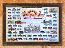 """""""Wheels That Won the West"""" Horse Drawn Wagon Makers Art Print (unframed)"""